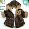 Retails 1PC(75-90Ccm) Children kids baby Boy's Girl's Winter Jackets, bear hoodie outwear coat for boys girls 2013 winter