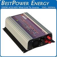 Free Shipping 1000W Grid Tie Wind Turbine Power Inverter AC22V~60V to AC90~130V/AC190~260V, Built-in Dump Load Controller, MPPT