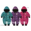 New arrival Baby Rompers,Kids Warm Winter Hooded Jumpsuit,Children Outerwear & Coat Snow Wear,Free shipping