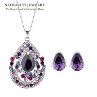 Neoglory Auden Rhinestone Zircon Necklace & Stud Earrings Jewelry Sets For Women Brand Wedding Fashion Gift 2013 Hot Selling