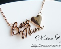 5PCS Best Mum Heart Necklace Rose Gold Plated best Gift for your Mom/Mum