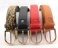 2014 New style female fashion crocodile candy color belt