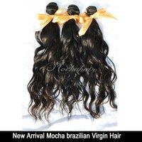 Mocha hair 3 or mix 3 pcs lot Virgin 7A Unprocessed Brazilian Hair Natural Wave Wholesale Natural Color Tangle Free