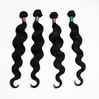 Unprocessed virgin remy brazilian hair extensions natural black body wave hair weft 4pcs/lot mix length 14 16 18 20 22 24 26 28