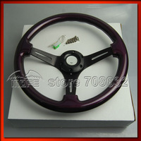 SPECIAL OFFER 53mm Deep Corn / Dish 14 Inch 350MM Wood Steering Wheel For Sport Racing Car