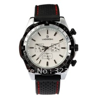 free shipping 2013  week date style black rubber band automatic  Mechanical  6 Hands Sport  for men wrist watch