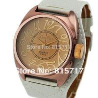 Free Shipping!Women Stylish Fashion Big Dial PU Leather Strap Wrist Watch Best Gift