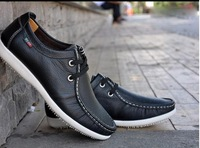 2014 new fashion men's leather shoes free shipping