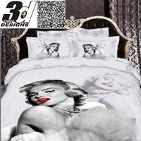 Marilyn Monroe 3d oil painting 4pc bedding set bed sheet Linen cotton bedspread sets Duvet/quilt/Comforter cover King queen size