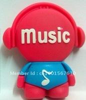 Pop music cartoon robot model USB flash drive 4GB 8GB 16GB 32GB/guitar/instrument/holiday high-end gifts/free shipping