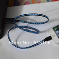 LED flash light USB Sync Data 8pin Charger Cable for iphone 5 5G 1 pcs Free shipping(China (Mainland))