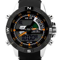 Weide Men Sports Orange Accent Waterproof LCD Multifunction Quartz Digital Wrist Watch | W0002