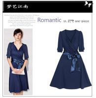Fashion summer one-piece dress plus size slim summer women's mm gentlewomen dress