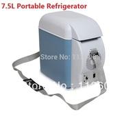 Free shipping  DC12v Mini fridge 7.5L Car Refrigerator Mini refrigerator Cooler box 12 volt 220 volt refrigerator
