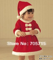 Retail Free shipping Winter  baby coat,children christmas coat,children coat,dress + hat