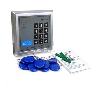 RFID Proximity Entry Door Lock Access Control System with 10 Key Fobs Freeshipping Dropshipping 36