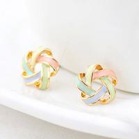 2014 Korean Fashion 3 colors Delicate Elegant Charm Delicate Beautiful Hollow Flower Stud Earrings Jewelry Women wholesale PT31
