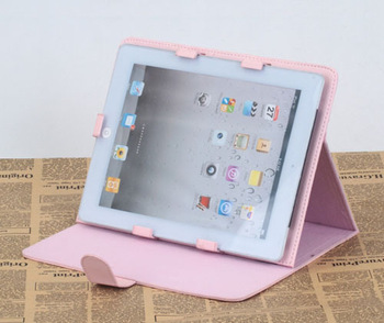 Free shipping, 10 inch tablet pc leather case, with stand, multi color.