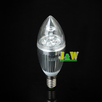 Christmas Promotion !!  4 X E14 3W Warm / Cool white 3*1W LED Dimmable Candle Light bulb lamp 110v 220v Gold and Silver Shell