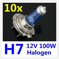 10 x H7 Halogen Xenon Car Light Bulb Lamp Car Light Bulbs 12V 100W Factory Price 10pcs