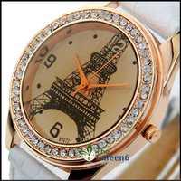 Fashion Women Elegant Lady Quartz Leather Strap Diamond Face Hot Sale Vogue High Quality Watch W1472