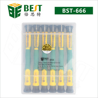 100  Sets  Best Model 666  precision screwdriver set  T2 T3 T4 T5 T6 T8 PH00 PH000  5 star  pentalobe  for iphone mobile laptop