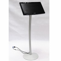 Trade show display / Curved Single column LCD stand