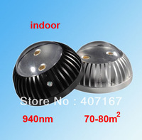 Array-infrared LED dome IR Illuminator,IR Lamp for CCTV Camera light compensation,940nm,invisible IR light for  70-80m2  room
