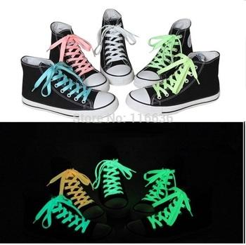 10pcs Shoelaces Glow in the Dark Kids Children Neon Colors Teens Ladies Sport Tennies Shoes glowing sneakers wholesale LOT