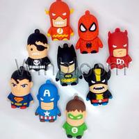 Cartoon Hero Pen Drive 4GB 8GB 16GB 32GB Real Capacity HKPAM FREE Shipping PVC Bat Man Super Man Avengers USB Flash Drive