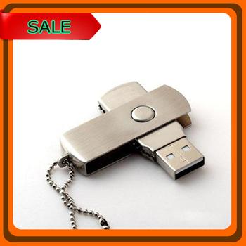 Wholesale usb flash drive 256MB 4GB 8GB 16GB 32GB 64GB USB 2.0 Rotating Metal Flash Memory Stick U Disk Pen Drive