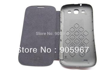 Orginal leather case smart case for Star N9330 N9389 cell phone White / Dark Blue