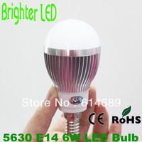 4pcs/lot CREE 6W 5630 15SMD E14 LED Bulb Light AC85-265V White/Warm White
