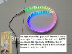 5M Waterproof Digital Addressable Magic Dream Color LED Strip Built in Controller with 300 effects remote control(China (Mainland))