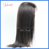 "Freeshipping!Cheap Lace Front Wigs #1B Yaki Straight 10-22"" Human Hair Indian Remy Lace wig Wig,tangle free,Wholesale China"