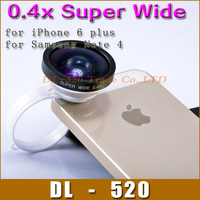 New arrivel 0.4x supper Wide Angle lens camera for iphone 4/5 S3 Note 2 HTC,retail box,Valentine's gift,DHL shipping/10pcs