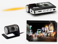 Free Shipping!!HD 720P Dual Lens Dashboard Car vehicle Camera Video Recorder DVR CAM G-sensor