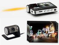 Free Shipping!!HD 720P Dual Lens Dashboard Car vehicle Camera Video Recorder DVR CAM G-sensor