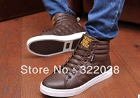 Free shipping Men's casual fashion men's leather shoes Height Increasing in autunm spring  Sneakers