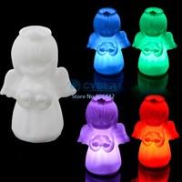 Promotions! 10Pcs/Lot Christmas Presents, Colorful Angel Led Night Light, Beautiful Night Lamp Christmas Gift Free Shipping 8473