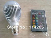 Wholesale E14 GU10 E27 B22 base type AC85V~245Voltage 5W 3W RGB Remote Control 16 Color Change led light lamp