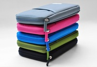 Nylon Waterproof Travel Passport Credit ID Card Cash Holder Pouch Organizer Wallet Purse Case Bag