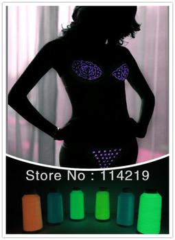 FOB PET-900D Glow Yarn/36F 3KG Per Cone Glow in the dark , Luminous polyester Filament Yarn For Knitting