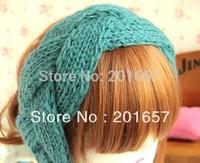 Wholesale and Retail Europe style knitted headband wide crochet headband- Handmade tenia braid headband assorted color