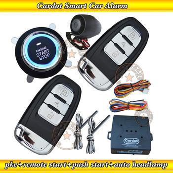 Russian  top  Multiple-function passive car alarm ,VW passat Flip key,push button start/stop engine,remoe start/stop engine,