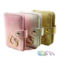 2012 New arrial /Hotsale+Free shipping+Hello Kitty card holder/Cartoon wallet/pink,black,white,gold/W10-42