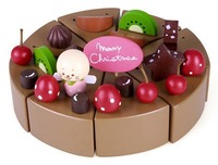 The Simulation of Chocolate Cake, Educational Diy Blocks ,Sylvanian Families Toy, Kids Wooden Toys,Christmas Gift  for Girls