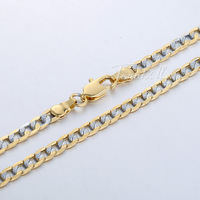 Customized 4mm Flat Hammered Curb Cuban Necklace 18K Silver Yellow Gold Filled Necklace Mens Chain Womens Necklace GN64