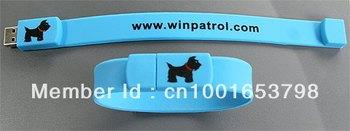 Free Shipping Custom USB Bracelet Pen Drive