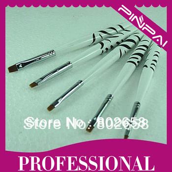 Free shipping 5pcs Professinal Nail Art Pen Brush Gel Brush